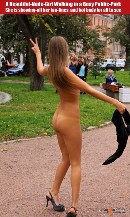 Public nudity photo cfnf clothed female naked female: A Beautiful Nude Girl Walking... Public Flashing