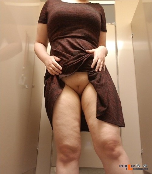 No panties yoursweetnympho: No panties at work today. Don't tell anyone my... pantiesless Public Flashing