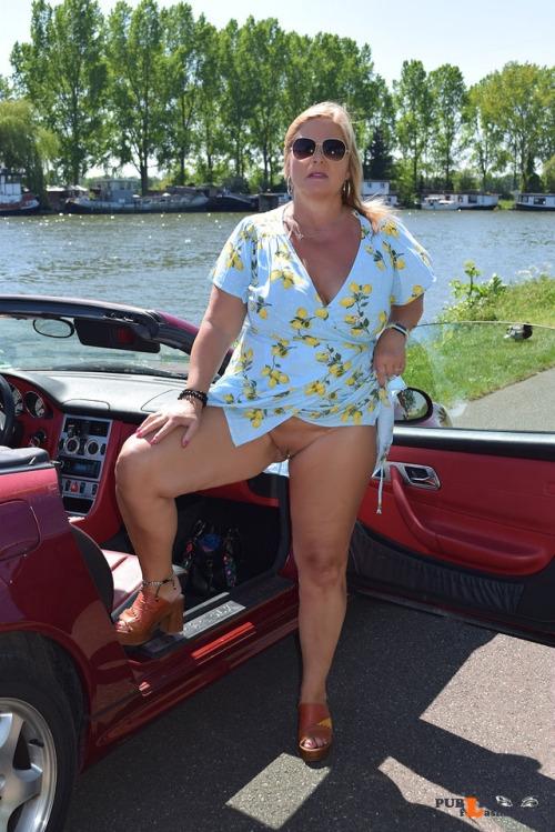 No panties nudechrissy: never wearing panties pantiesless Public Flashing