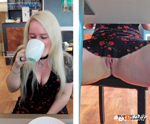 No panties mastersbuttcat: #buttcat during the breakfast in a hotel.... pantiesless Public Flashing