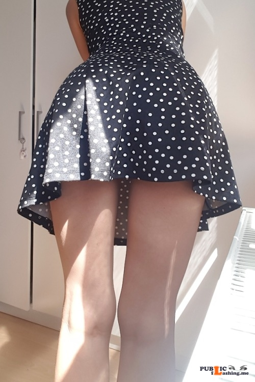 No panties my dominantlife: One of my girls asked for permission to leave... pantiesless Public Flashing