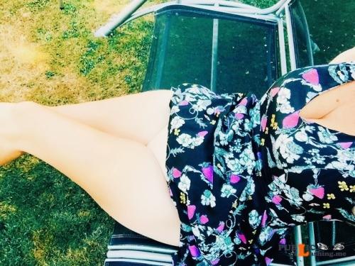 No panties southcoastmilf: Summer days are too hot for panties I... pantiesless Public Flashing