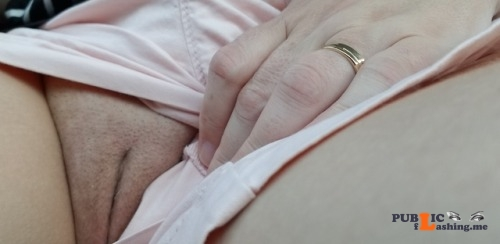 No panties He asked if I had panties on while we were out driving, I had to... pantiesless Public Flashing
