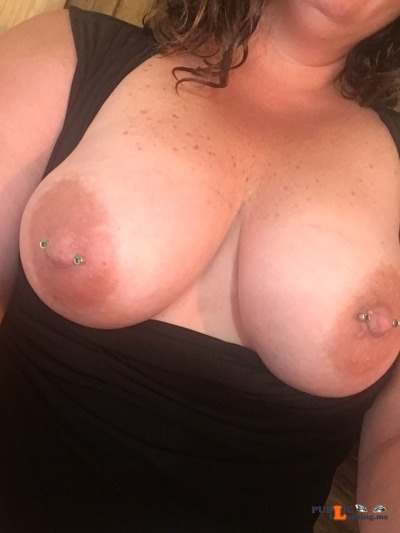 No panties sexy milf82: Headed to meet hubby for lunch, oops no bra or... pantiesless Public Flashing