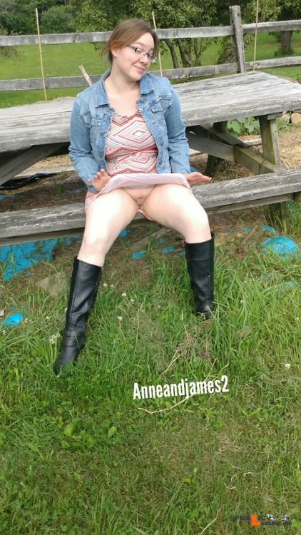 No panties anneandjames2: A flashback to this day last year.. It's... pantiesless Public Flashing