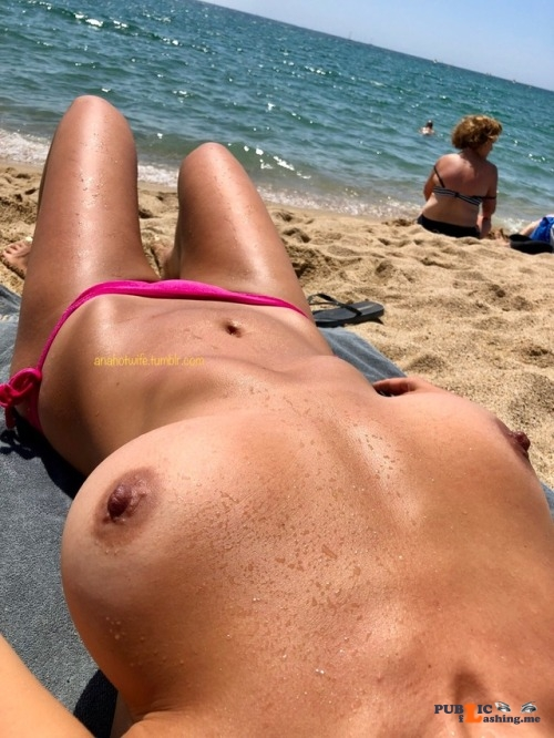 Public exhibitionists anahotwife: Need more tan Public Flashing
