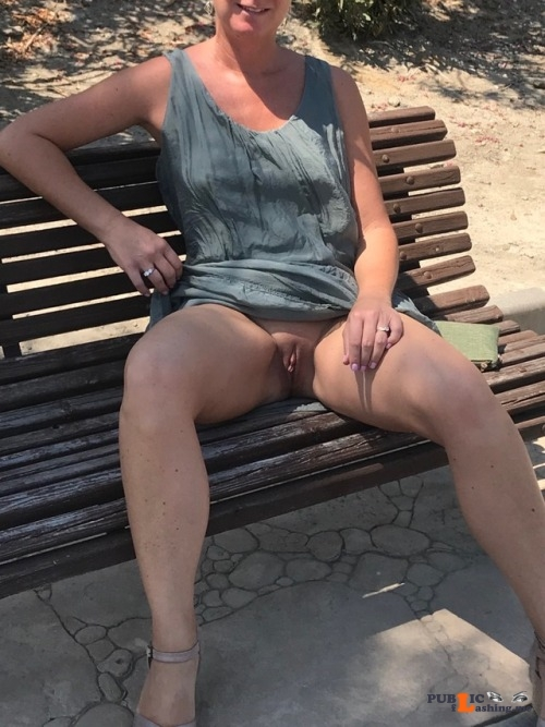 No panties frubble32: Love my sexy slut wife. Very naughty pantiesless Public Flashing