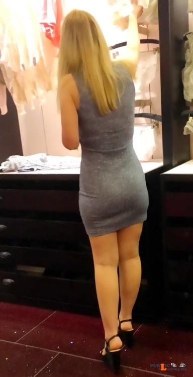 No panties portcharlottehotwife: Shopping made Sexy pantiesless Public Flashing
