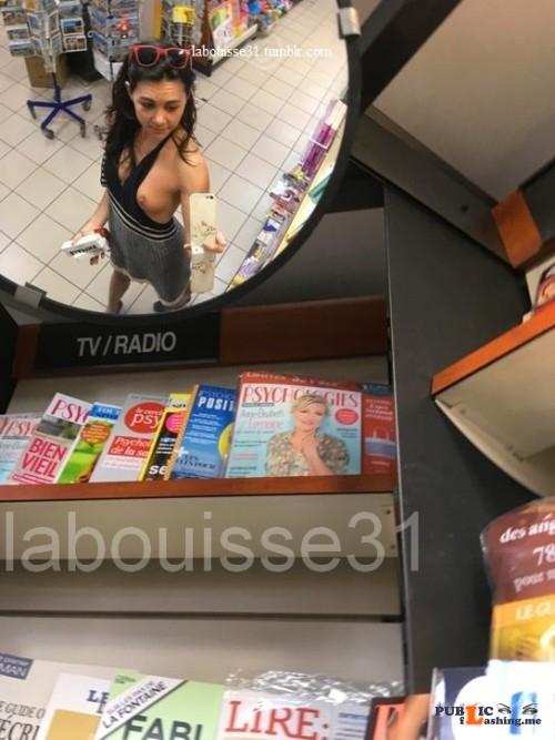Public exhibitionists labouisse31: Selfie 18 Miroir © Public Flashing