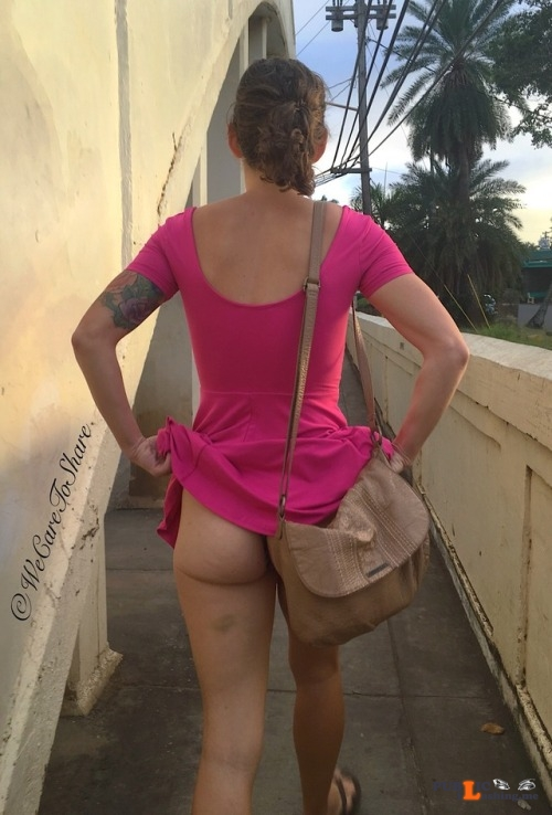 No panties wecaretoshare: You should always pay attention when out, you... pantiesless Public Flashing