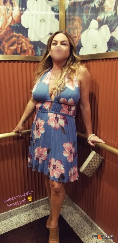 No panties sweet sweet honeypot: Love it when we have the hotel elevator to ourselves and especially if she's... pantiesless Public Flashing
