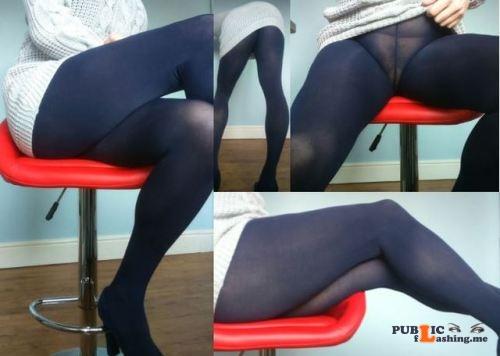 No panties violetlovespantyhoseblog: I can't stop wearing the grey sweater... pantiesless Public Flashing