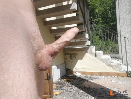 Outdoor nude selfshot myoutoorcock:Totally naked in an abandoned building! Public Flashing