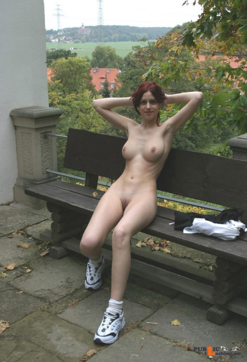 Outdoor nude selfshot Photo Public Flashing