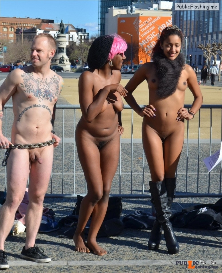black girl naked in london in public