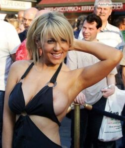 Nipple slip pics celebrity blonde on red carpet