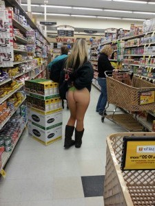 Public Ass flashing videos blonde in public store
