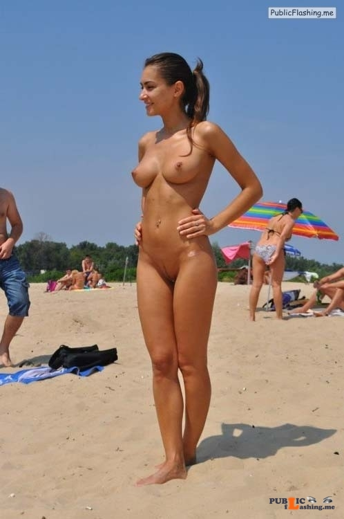 Female full nudity public
