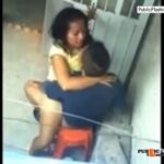 Sex in public toilet couple get caught VIDEO