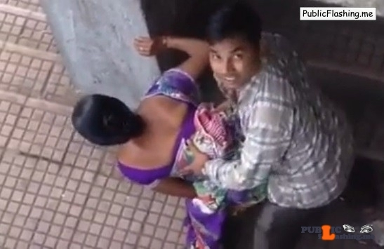 Indian MILF public sex caught in act red handed VIDEO