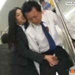 Hanjob in public bus old guy and young Asian girl VIDEO