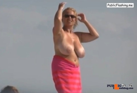 Huge mature boobs public flashing compilation VIDEO