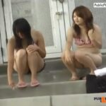 Blowjob in public toiled Hitomi Tanaka pink dress VIDEO