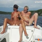 Reverse cowgirl public sex on jet ski