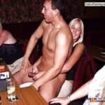 No panties blonde-dolly: When daddy decides to rip your trousers in a restaurant so your cunt is on show ? pantiesless