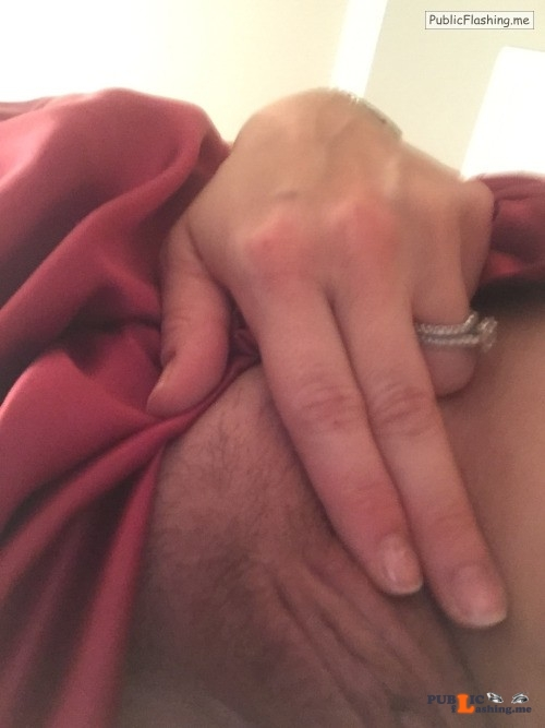No panties audreyndoc: She told me she wasn't going to wear panties when... pantiesless Public Flashing