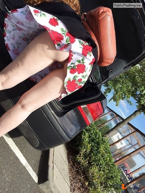 Ass flashing everwatchful: Wow…I WAS admiring those large flowers on her... Public Flashing