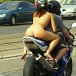 Public nudity photo okosexy: It's important to wear a helmet while naked on the back…