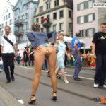 walkingandswinging: publicnudies: she's still got it Public… flashing in public picture