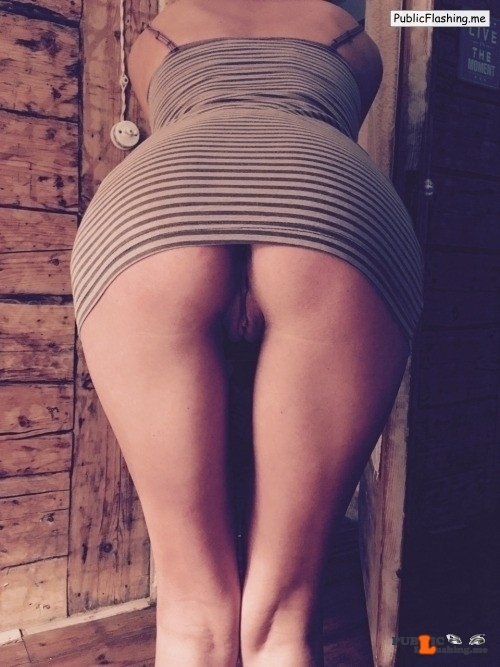 No panties ardreamlife: Love being bent and flashing my ass! Happy Friday… pantiesless