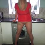 Ass flashing british–homemade-lover: Mates wife.
