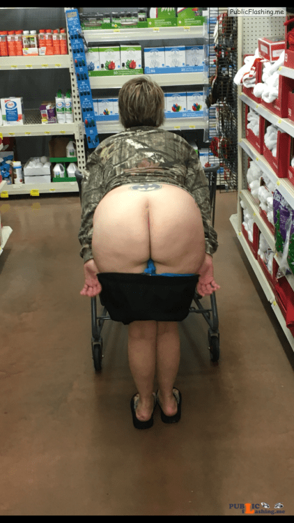 Ass flashing countryboy985: Showing off her goods at the store... Public Flashing