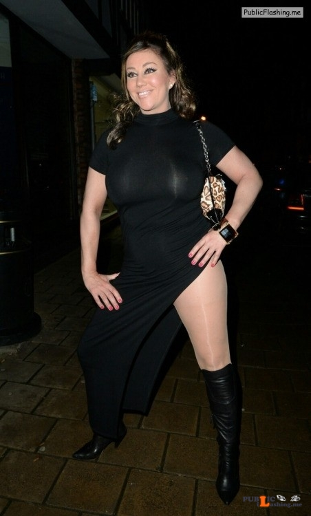 Ass flashing datboinitty: Lisa Appleton n the see thru outfit showing breast Public Flashing