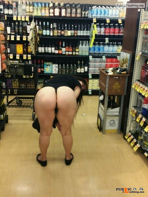 Flashing in public store Maybe she needs help adjusting that thong she is wearing.  You... Public Flashing