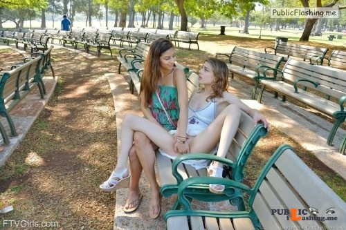 FTV Girls Horny FTV Girls expose and play with each other in a public... Public Flashing