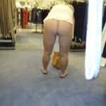 No panties hotwifekelli: Wife showing off that ass in Macy's Department… pantiesless
