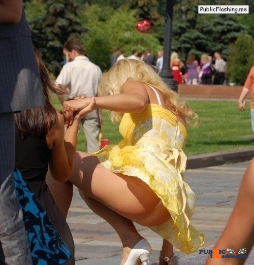 Ass flashing everwatchful: Another lovely summery floral dress going in the…