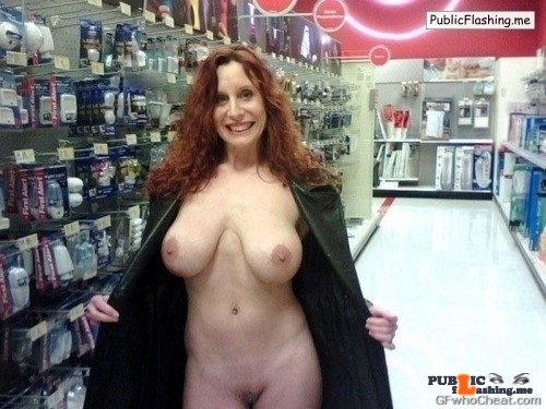 Flashing in public store Nothing like baring it all and flashing your completely naked…