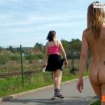 Public nudity photo thelifeoftami: As Tami walked, she tried to hold down her…