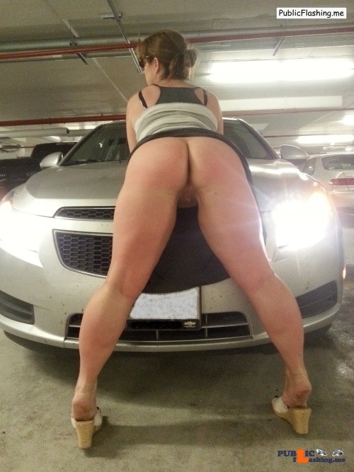 Public flashing photo stuffmyholesxxx:Paused for a little photo op in the parking…