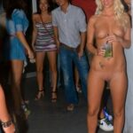 Flashing in public photo Miley completely naked…