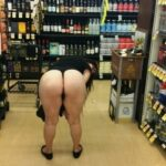 Flashing in public store Maybe she needs help adjusting that thong she is wearing.  You…