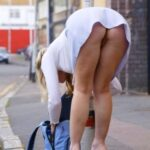 Exposed in public Good girls bend at the knees, bad girls bend at the…