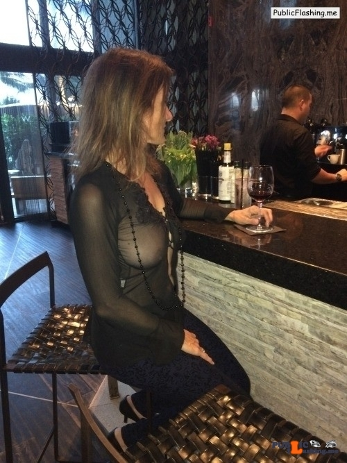 Exposed in public wifedatenightfantasies:My favorite blouse for sitting at the…