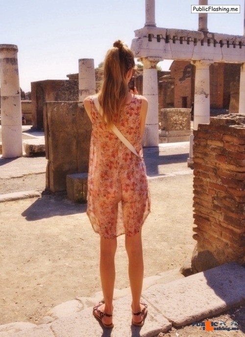 arturotik:Summer dress – the heat will not be a problem – I like… flashing in public picture