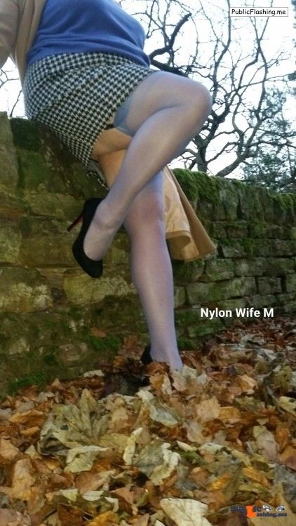 Public Flashing Photo Feed : Ass flashing fatdadm: M in nylonica stockings to match her jumper